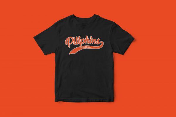 T-Shirt 'Pillphins Football'