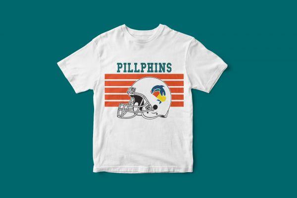T-Shirt 'Pillphins Helm'