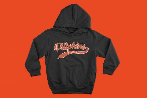 Hoodie 'Pillphins Football'