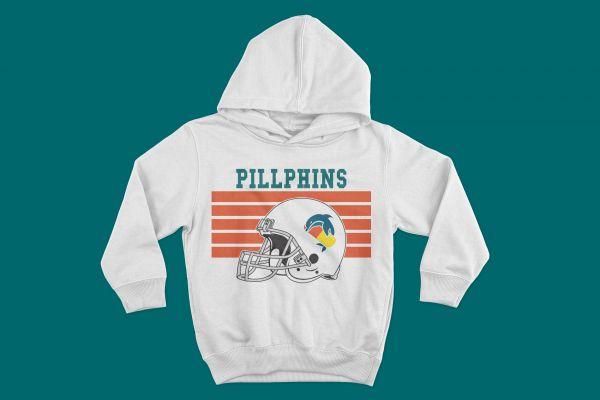 Hoodie Pillphins Helm